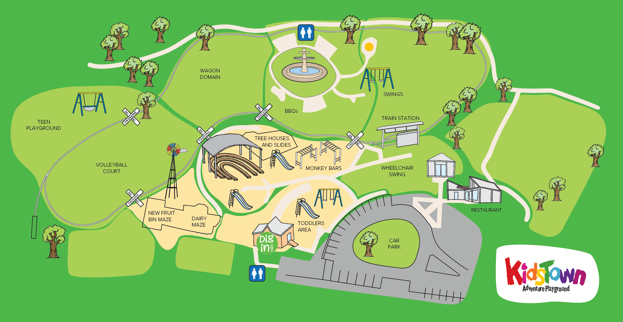 KidsTown Playground Map