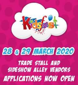 Kidsfest 2020 - 28 and 29 March 2020. Trade Stall and Sideshow Alley Vendor Applications Now Open